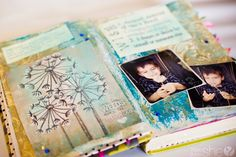 I really want to do this visual journal out of an old book!