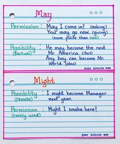 English Grammar - New Sites English Grammar Notes, Teaching English Grammar, English Grammar Worksheets, English Verbs, English Language Learning, English Vocabulary Words, Learn English Words, English Study, English Lessons