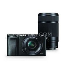 Sony Alpha a6000 Camera with 55-210mm and 16-50mm Power Zoom Lenses
