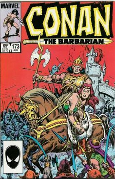 Cover for Conan the Barbarian (Marvel, 1970 series) Vintage Comic Books, Vintage Comics, Book Cover Art, Comic Book Covers, Conan The Barbarian Comic, Conan O Barbaro, Conan The Destroyer, Conan The Conqueror, Conan Comics