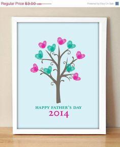 Father's Day Fingerprint Tree! Super cute gift idea!