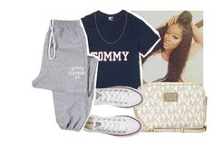 """🔥"" by eazybreezy305 ❤ liked on Polyvore featuring Michael Kors, Converse, simpleoutfit and 2016"