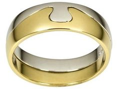 Mens wedding ring.                                                     Not in yellow gold