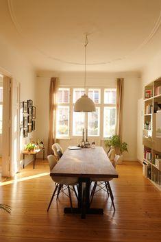 Interior Modern, Interior Design, Berlin Apartment, Apartment Interior, Two Bedroom Apartments, Open Plan, Sweet Home, Dining Table, Mansions