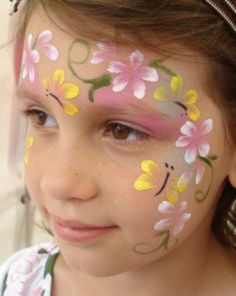 flower face paint design