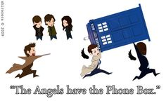 The angels have the phone box!!!!!