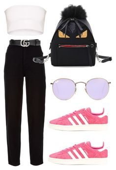 """Untitled #378"" by lonedsirs ❤ liked on Polyvore featuring Chanel, Fendi, adidas Originals, Gucci and Ray-Ban"