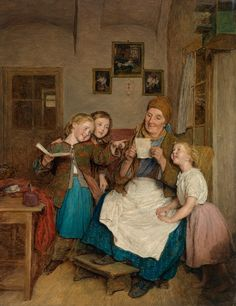 Unknown title. Ferdinand Georg Waldmuller (1793-1865), Austrian painter.
