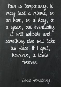 An appropriate quote based on today's news of #LanceArmstrong