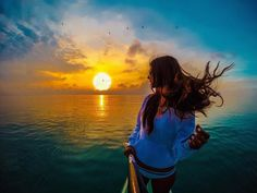 Stunning sunset capture in Miami by GoProGirl @elebreakstone. #GoPro #GoProGirl #sunset #miami #florida