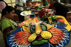 wanna make this masks. Bengali New Year, New Years Traditions, Costumes Around The World, Bangla News, Masks, Poems, Culture, Poetry, A Poem