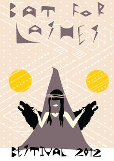 Bestival Poster Design - Bat for Lashes by Clare Dolan, via Behance