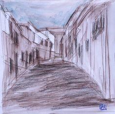 Paisaje 30-2003 Fuente Obejuna DibujoTécnica por PINACOTHECULA