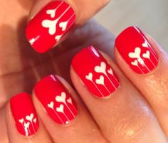 Here is Valentine Nail Art Designs Gallery for you. Valentine Nail Art Designs top 5 valentine nail art designs to make yo. Nail Art Saint-valentin, Heart Nail Art, Heart Nails, Nail Nail, Heart Art, Heart Ring, Heart Nail Designs, Valentine's Day Nail Designs, Cute Nail Art Designs