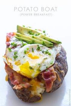 Power Breakfast Baked Potato