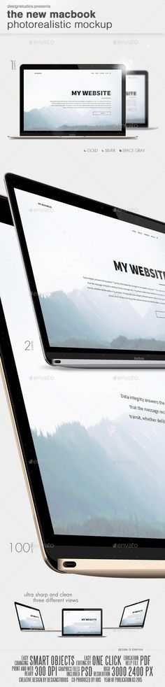 The New MacBook Photorealistic Mockup Download here: https://graphicriver.net/item/the-new-macbook-photorealistic-mockup/10877230?ref=KlitVogli