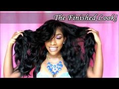 How-To: Full Deep Side Bangs on a U-Part wig in 30 Minutes! - YouTube