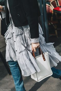 by Collage Vintage // Fashion / Style / Outfit / Dress over Pants /