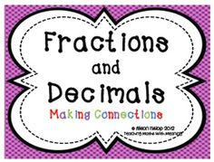 Decimals and Fractions - Making Connections $