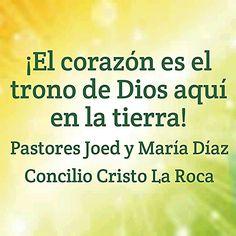 ¡El corazón es el trono de Dios aquí en la tierra!