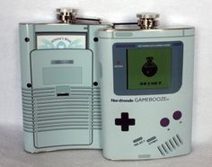 Nerdtendo Gamebooze Flask  #nintendo #gameboy