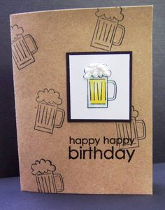 Masculine Birthday Card by hobbydujour - Cards and Paper Crafts at Splitcoaststampers