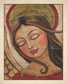 PRAY (with border) 8x10 print by Teresa Kogut.