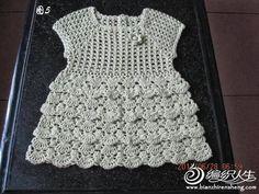 Croche pro Bebe: Vestidinho achado na net