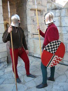 Italian militia in barbute helmets