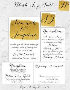 Art Deco Digital Printable Wedding Invitation by IvyPrintables