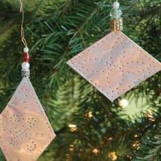 DIY aluminum ornaments