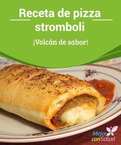 #Receta de #Pizza stromboli ¡Volcán de sabor! Al colocar la #Salsa es importante que dejemos un margen en los bordes para que no se derrame y para poder manejar nuestra pizza rellena con más facilidad