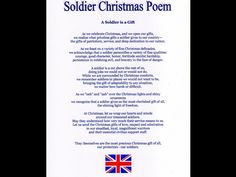 The Poem Twas Soldier Before Night Christmas