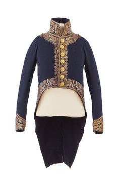 Dress uniform jacket belonging to Major General Prince Eugene, ca. 1812  From the Chateau de Malmaison Costume Collection