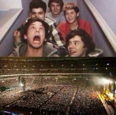 :') From the stairs to here