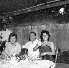 Giulietta Masina, Tennessee Williams e Anna Magnani.
