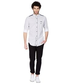 Skie Studio White Full Sleeve Casual Shirt Get The Look, Casual Shirts, Men Casual, Studio, Sleeves, Mens Tops, Stuff To Buy, Shopping, Fashion