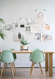 Rooms that resemble our favorite ice cream flavors. Can you guess what these mint colored Eames chairs match?