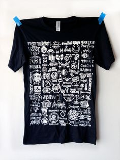 Bands (black) T-shirt - DreemStreet Back To Black, Shirt Dress, T Shirt, Brooklyn, Grunge, Bands, Graphics, Logo, T Shirts