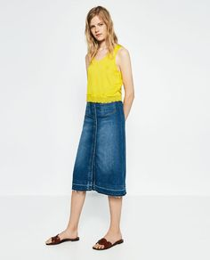 love the top (not the skirt!) ZARA - NEW IN - CROPPED T-SHIRT