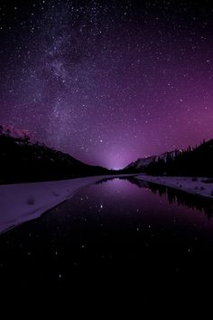 View top-quality stock photos of Starry Sky Illuminates Mountain Landscape. Find premium, high-resolution stock photography at Getty Images. Purple Sky, Purple Love, All Things Purple, Shades Of Purple, Periwinkle, Deep Purple, Dark Blue, Art Violet, Beautiful World