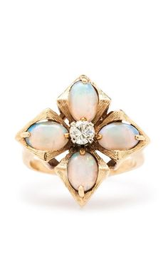 Jewelry Diamond : Vintage opal ring