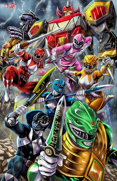 Mighty Morphin Power Rangers by Wil Woods