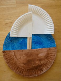 Cute little paper plate craft for making the Mayflower {could be adapted for Christopher Columbus, too}