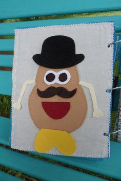 Mr Potato Head Felt Quiet Book Page by AllAboutKraft on Etsy, $18.00