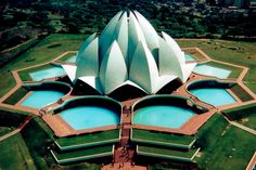 Lotus Temple, na Índia, inspirado na flor de lótus | #Jmj, #LotusTemple, #LugaresDoMundo