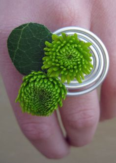 Corsage on a wired ring