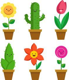 Flower Vectors, Photos and PSD files E Frame, Decoupage, Vector Free Download, Plant Illustration, Doodle Art, Adult Coloring, Flower Pots, Planting Flowers, Presentation