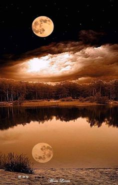 Moonlight shining bright, reflection on the water. I sing the old Wiccan song as I view the moon tonight. I sing to the moon, of it's beauty. Of my loneliness. Stars Night, Shoot The Moon, Moon Photos, Full Moon Pictures, Moon Pics, Moon Photography, Beautiful Moon, Moon Lovers, Photos Voyages