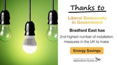 #Bradford East homes are 2nd highest for Energy Saving measures #DavidWardforBradford http://www.davidwardforbradford.org.uk/